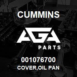 001076700 Cummins COVER,OIL PAN | AGA Parts