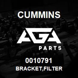 0010791 Cummins BRACKET,FILTER | AGA Parts