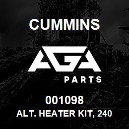 001098 Cummins Alt. Heater Kit, 240V | AGA Parts