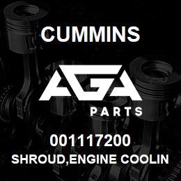 001117200 Cummins SHROUD,ENGINE COOLING FAN | AGA Parts
