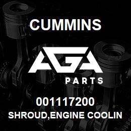001117200 Cummins SHROUD,ENGINE COOLING FAN   AGA Parts