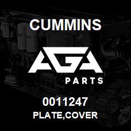 0011247 Cummins PLATE,COVER | AGA Parts