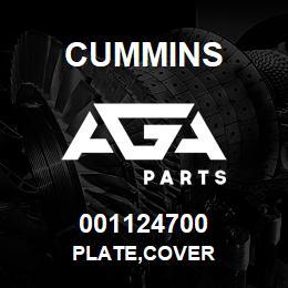 001124700 Cummins PLATE,COVER | AGA Parts