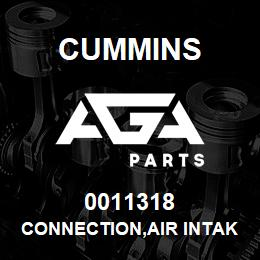 0011318 Cummins CONNECTION,AIR INTAKE | AGA Parts
