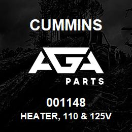 001148 Cummins Heater, 110 & 125V | AGA Parts