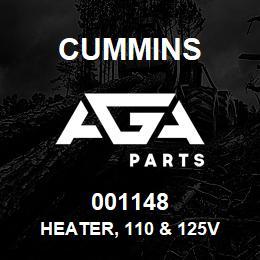 001148 Cummins Heater, 110 & 125V   AGA Parts