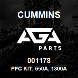 001178 Cummins Pfc Kit, 650A, 1300A | AGA Parts