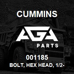 001185 Cummins Bolt, Hex Head, 1/2-13 Unc, 6 Lg | AGA Parts