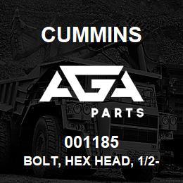 001185 Cummins Bolt, Hex Head, 1/2-13 Unc, 6 Lg | AGA Parts