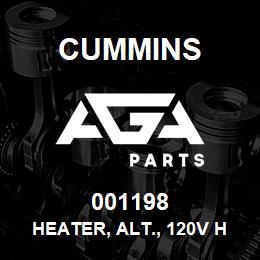 001198 Cummins Heater, Alt., 120V HC7 | AGA Parts