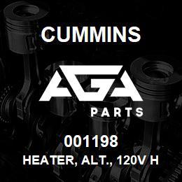 001198 Cummins Heater, Alt., 120V HC7 | AGA Parts