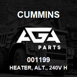 001199 Cummins Heater, Alt., 240V HC7 | AGA Parts
