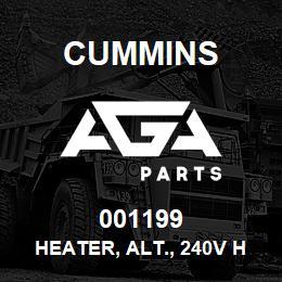 001199 Cummins Heater, Alt., 240V HC7 | AGA Parts