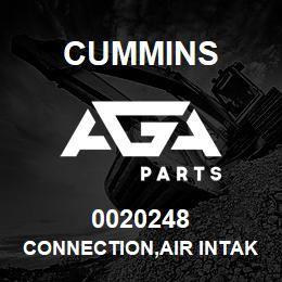 0020248 Cummins CONNECTION,AIR INTAKE | AGA Parts