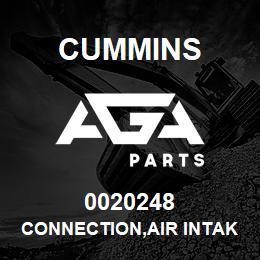 0020248 Cummins CONNECTION,AIR INTAKE | AGA Parts