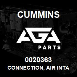 0020363 Cummins CONNECTION, AIR INTAKE | AGA Parts