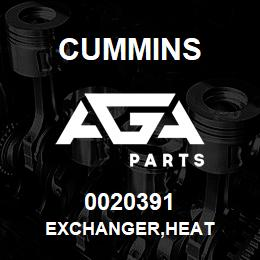0020391 Cummins EXCHANGER,HEAT | AGA Parts
