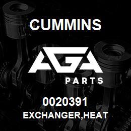 0020391 Cummins EXCHANGER,HEAT | AGA Parts