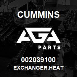 002039100 Cummins EXCHANGER,HEAT | AGA Parts