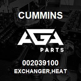 002039100 Cummins EXCHANGER,HEAT | AGA Parts