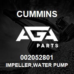 002052801 Cummins IMPELLER,WATER PUMP | AGA Parts
