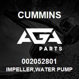002052801 Cummins IMPELLER,WATER PUMP   AGA Parts