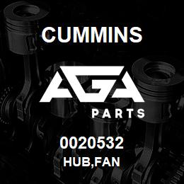 0020532 Cummins HUB,FAN | AGA Parts