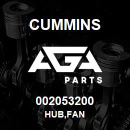 002053200 Cummins HUB,FAN | AGA Parts