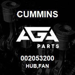 002053200 Cummins HUB,FAN   AGA Parts