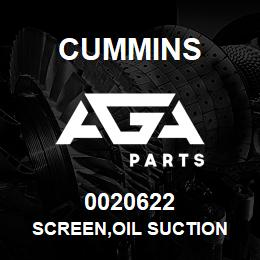 0020622 Cummins SCREEN,OIL SUCTION | AGA Parts