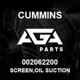 002062200 Cummins SCREEN,OIL SUCTION | AGA Parts