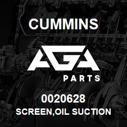 0020628 Cummins SCREEN,OIL SUCTION | AGA Parts