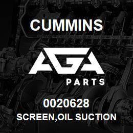 0020628 Cummins SCREEN,OIL SUCTION | AGA Parts