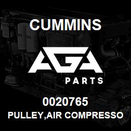 0020765 Cummins PULLEY,AIR COMPRESSOR | AGA Parts