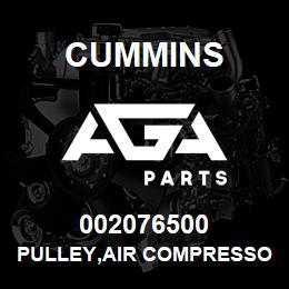 002076500 Cummins PULLEY,AIR COMPRESSOR | AGA Parts
