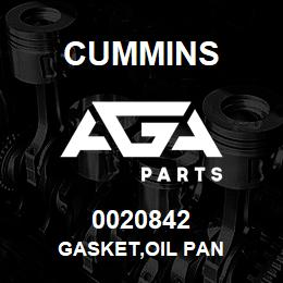 0020842 Cummins GASKET,OIL PAN | AGA Parts
