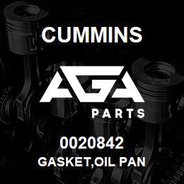 0020842 Cummins GASKET,OIL PAN   AGA Parts