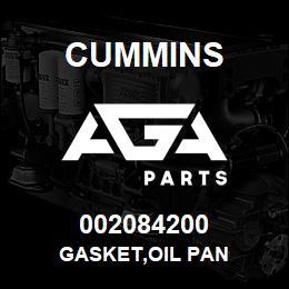 002084200 Cummins GASKET,OIL PAN   AGA Parts