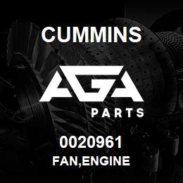 0020961 Cummins FAN,ENGINE | AGA Parts