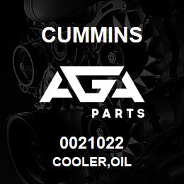 0021022 Cummins COOLER,OIL | AGA Parts