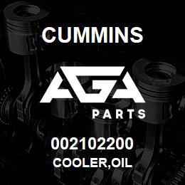 002102200 Cummins COOLER,OIL   AGA Parts