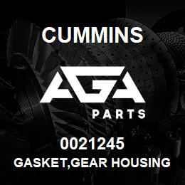 0021245 Cummins GASKET,GEAR HOUSING | AGA Parts