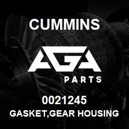 0021245 Cummins GASKET,GEAR HOUSING | AGA Parts
