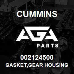 002124500 Cummins GASKET,GEAR HOUSING | AGA Parts