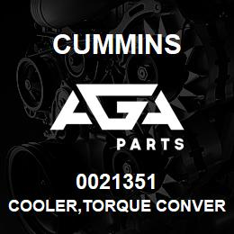 0021351 Cummins COOLER,TORQUE CONVERTER | AGA Parts