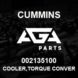 002135100 Cummins COOLER,TORQUE CONVERTER | AGA Parts