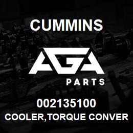 002135100 Cummins COOLER,TORQUE CONVERTER   AGA Parts
