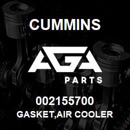 002155700 Cummins GASKET,AIR COOLER | AGA Parts