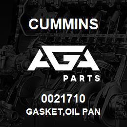 0021710 Cummins GASKET,OIL PAN | AGA Parts