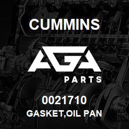 0021710 Cummins GASKET,OIL PAN | AGA Parts